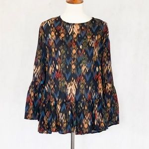 Beach Lunch Lounge Black Pattern Suzy Blouse